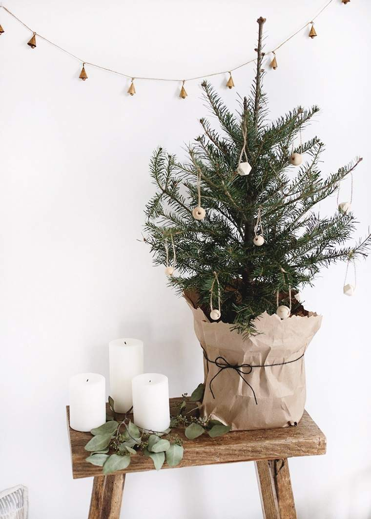Ideas para navidad para decorar espacios peque os con for Arbol de navidad pequeno