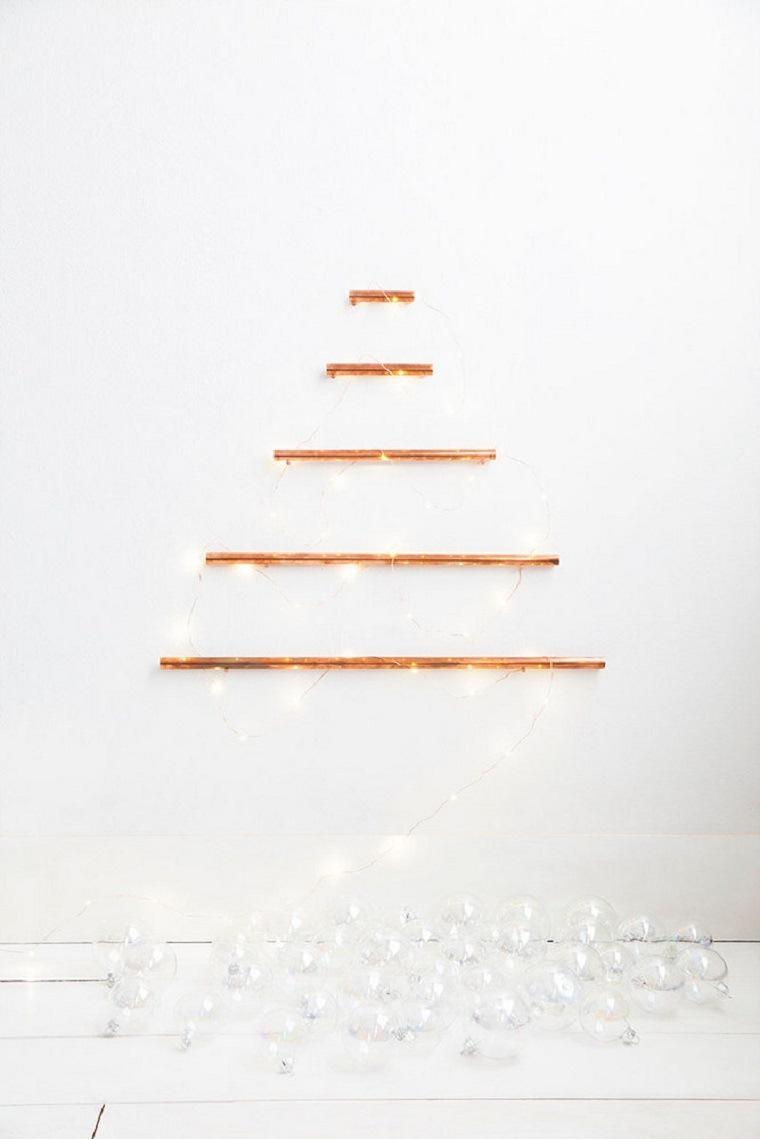 ideas para navidad arbol-pared-alternativo