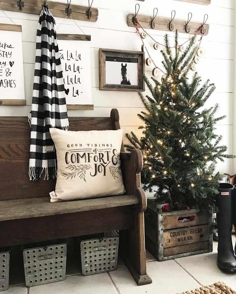 ideas para navidad decoracion-entrada-casa