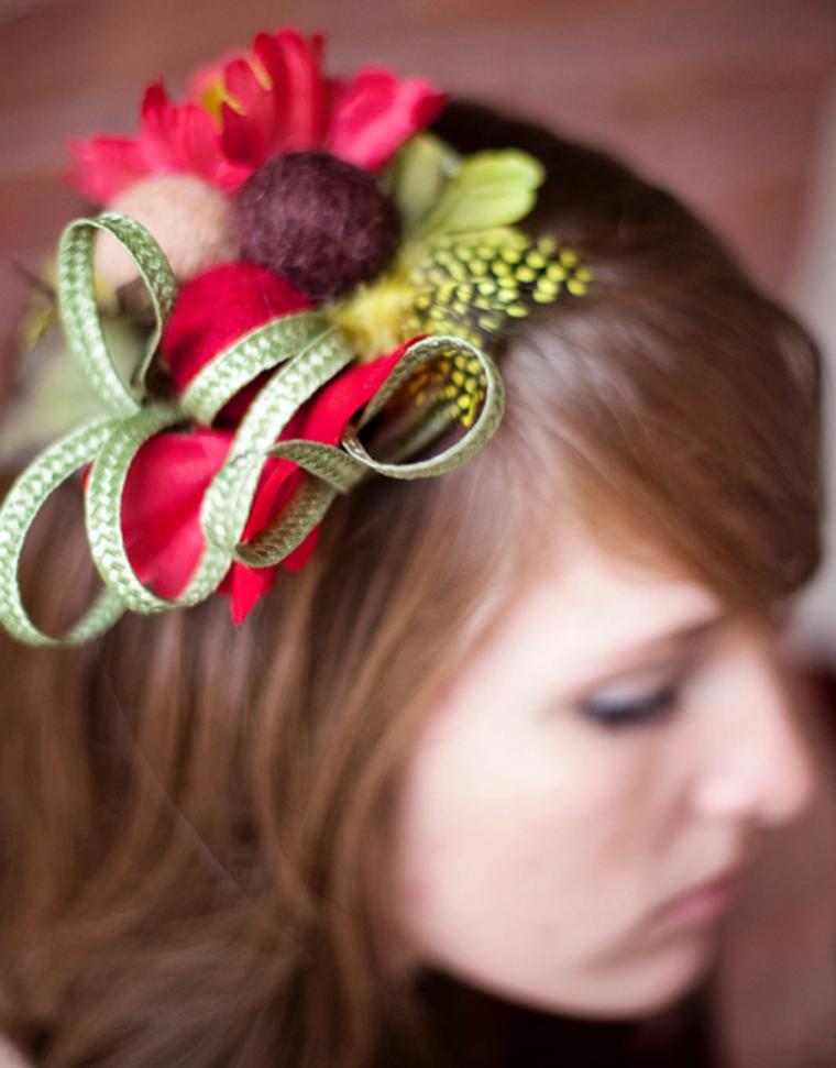 tocado para boda con flores