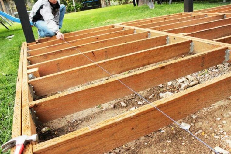 instalar una plataforma de madera para el piso en On plataforma madera