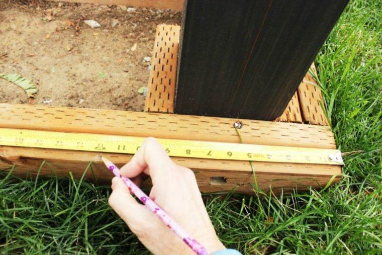 plataforma de madera de secoya