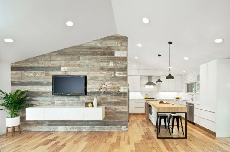 interior moderno luminoso madera