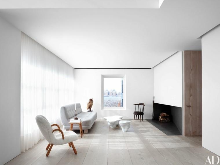 bonita sala de estar escandinava
