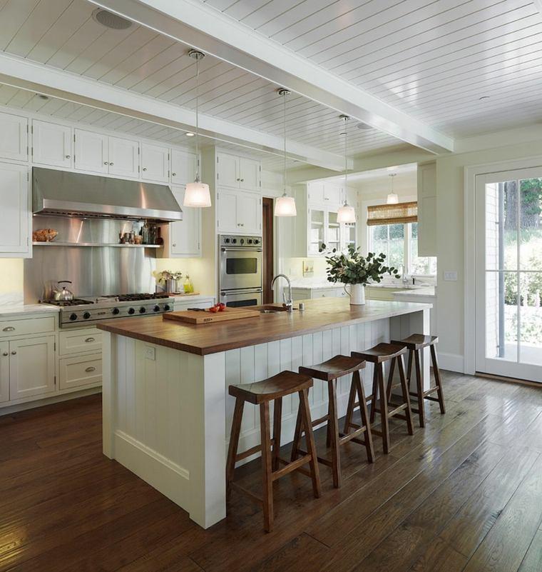 isla-encimera-madera-estilo-moderno