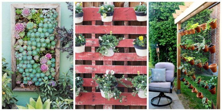 bonitos diseños de jardines verticales