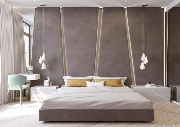lamparas colantes laterales cama