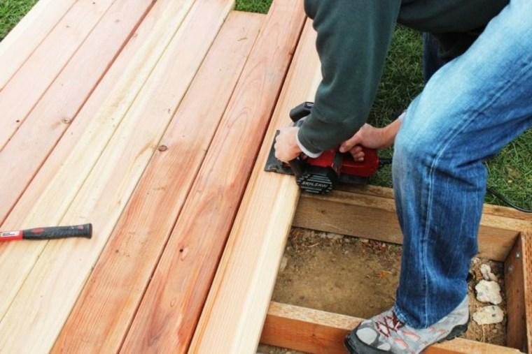 construir una plataforma de madera
