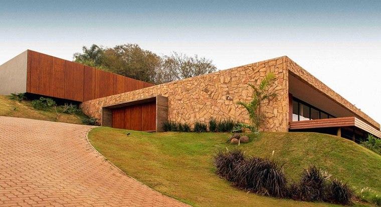 casas modernas de piedra