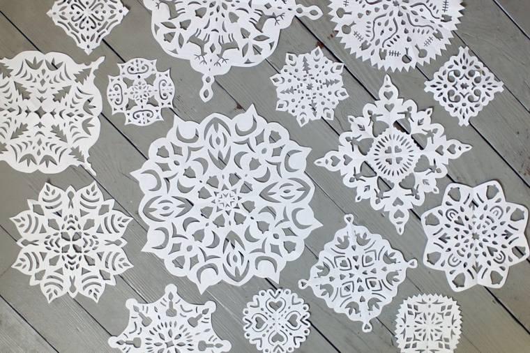 manualidades-navidad-opciones-copos-nieve-papel