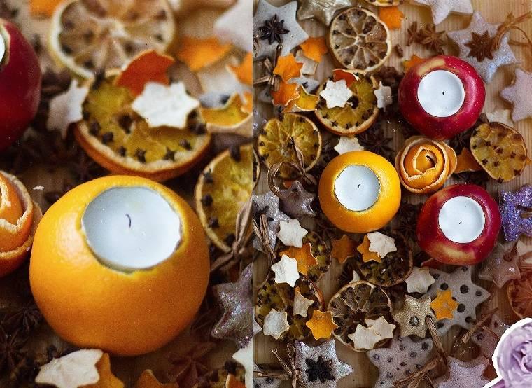 manualidades navidad-opciones-velas-decorativas