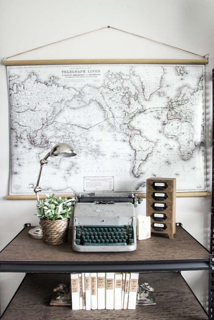mapas paredes decoracion oficina