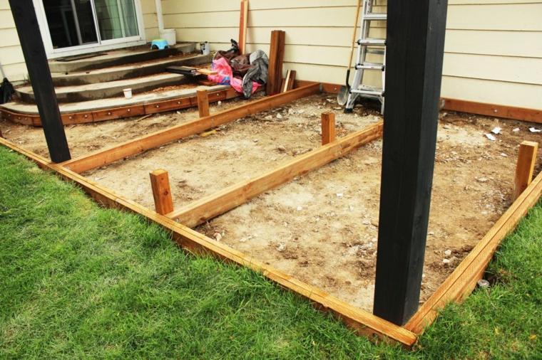 Construir un marco de plataforma para el jardín en sencillos pasos -