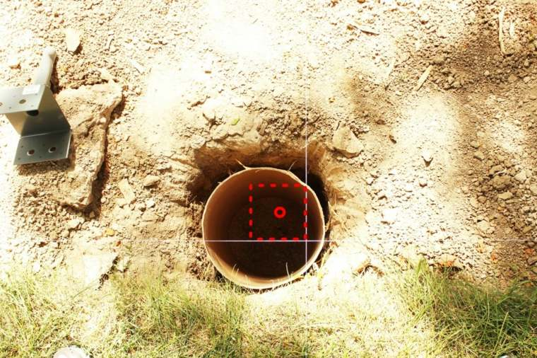 medidas del agujero
