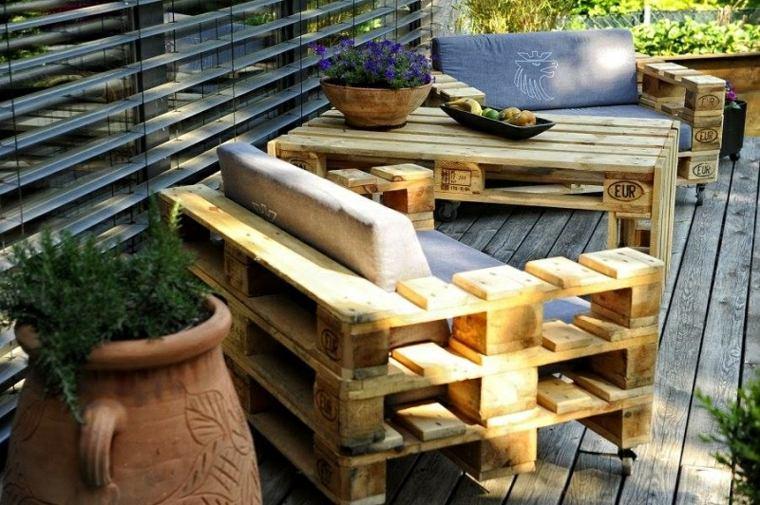 mesas con palets de-jardin