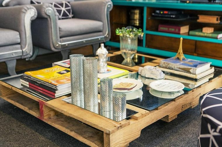 mesas con palets de salon - Mesas Con Palets
