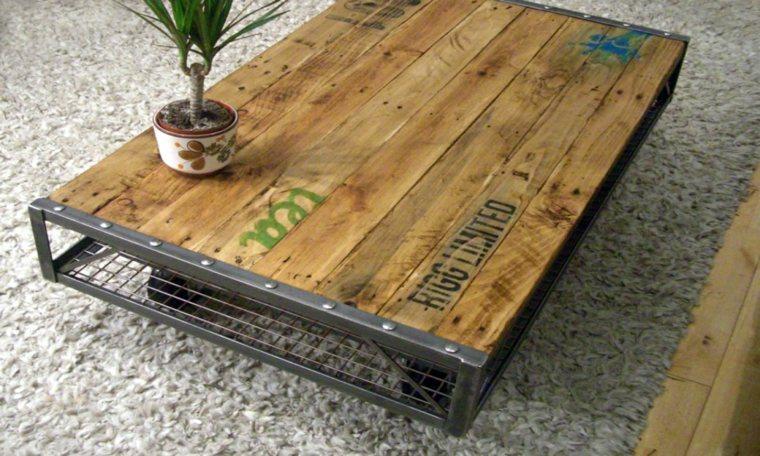 mesas con palets mesa-baja
