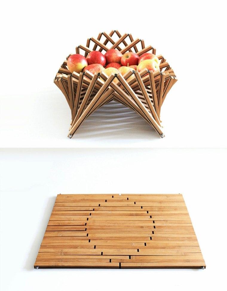 mesas plegables frutero-manzanas