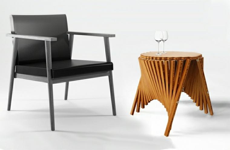 mesas plegables y-silla