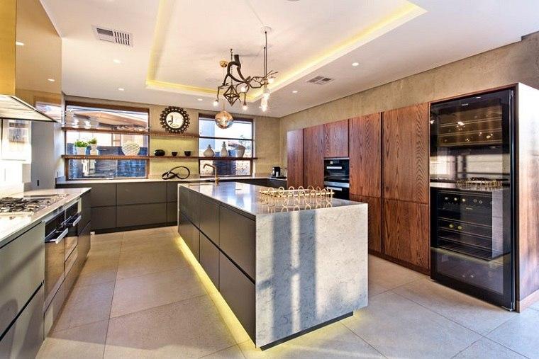 moderna cocina led detalles