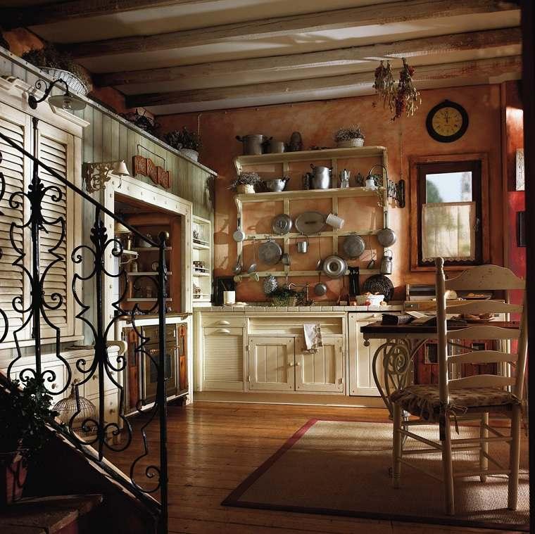 Muebles r sticos para la cocina 20 opciones originales for Ideas diseno cocina