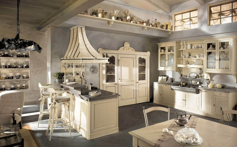 Muebles rústicos para la cocina - 20 opciones originales -