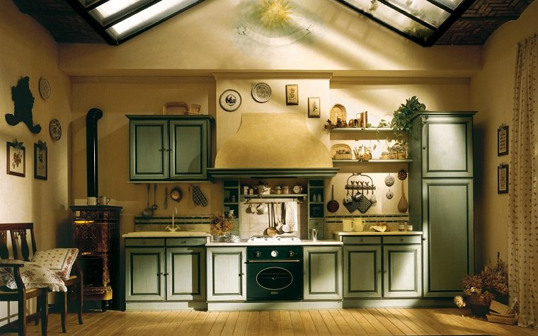 muebles rústicos-cocina-diseno-estilo-provenzal