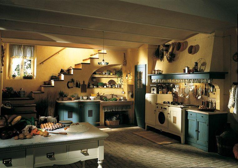 muebles rústicos-cocina-diseno-opciones-color-madera