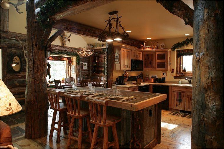 muebles-rusticos-cocina-diseno-original-isla