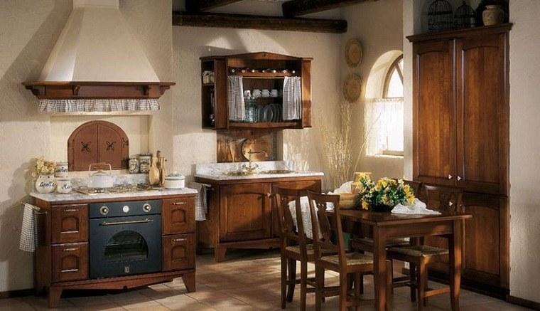 muebles-rusticos-cocina-disenos-retro-opciones