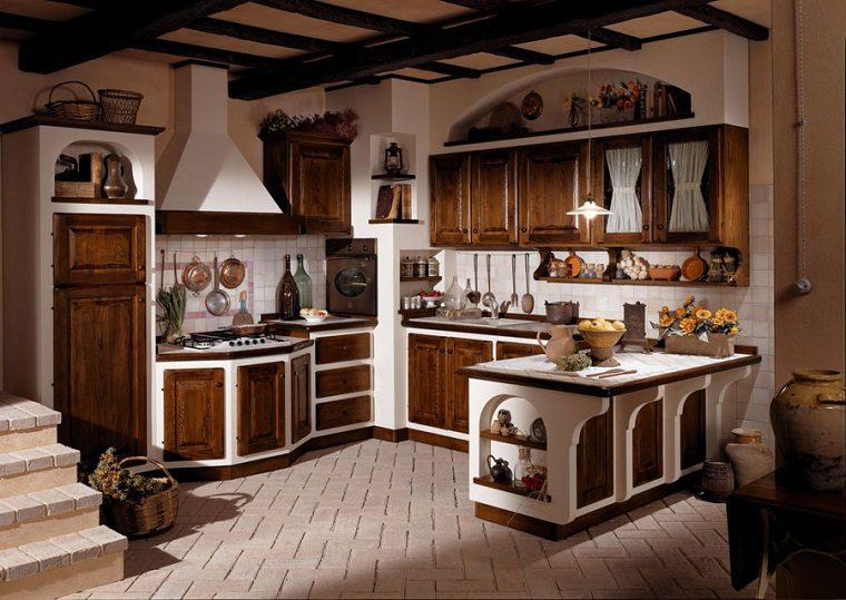 Muebles r sticos para la cocina 20 opciones originales - Muebles casa de campo ...