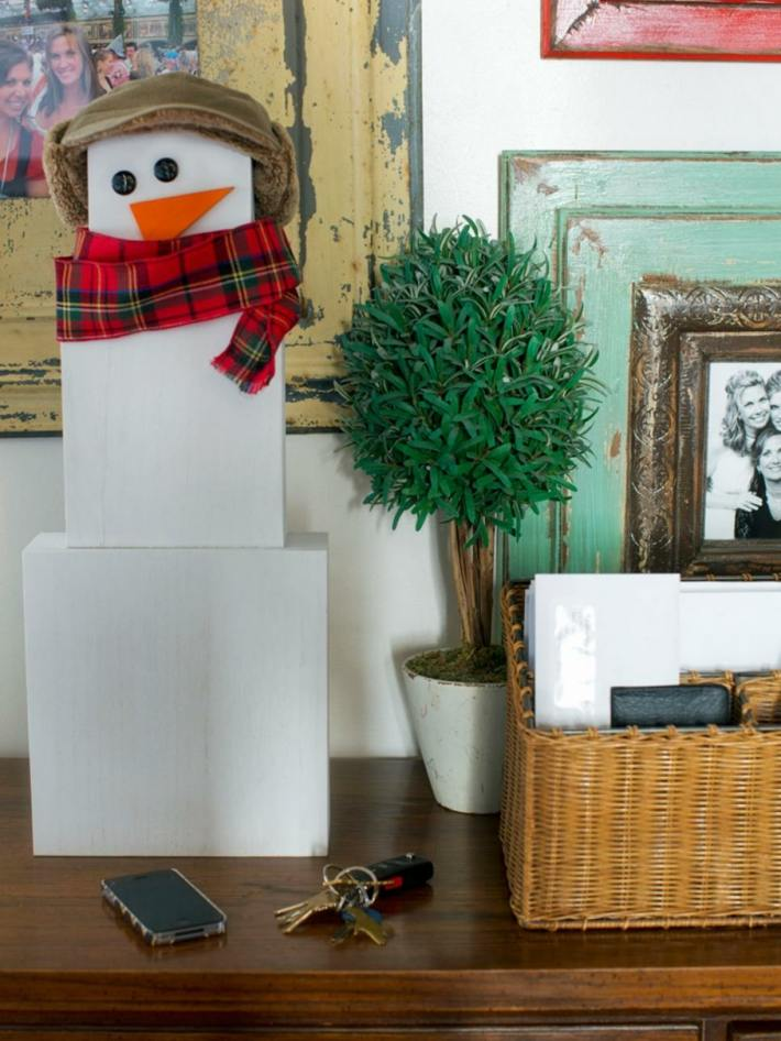 muneco nieve cajas blancas