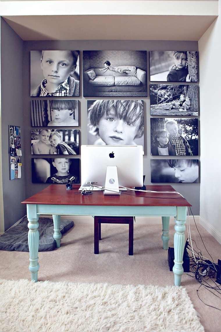 mural de fotos de-ninos