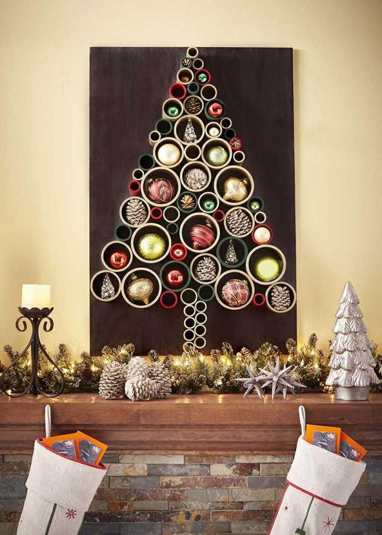 opciones-decorar-pared-navidad-arbol