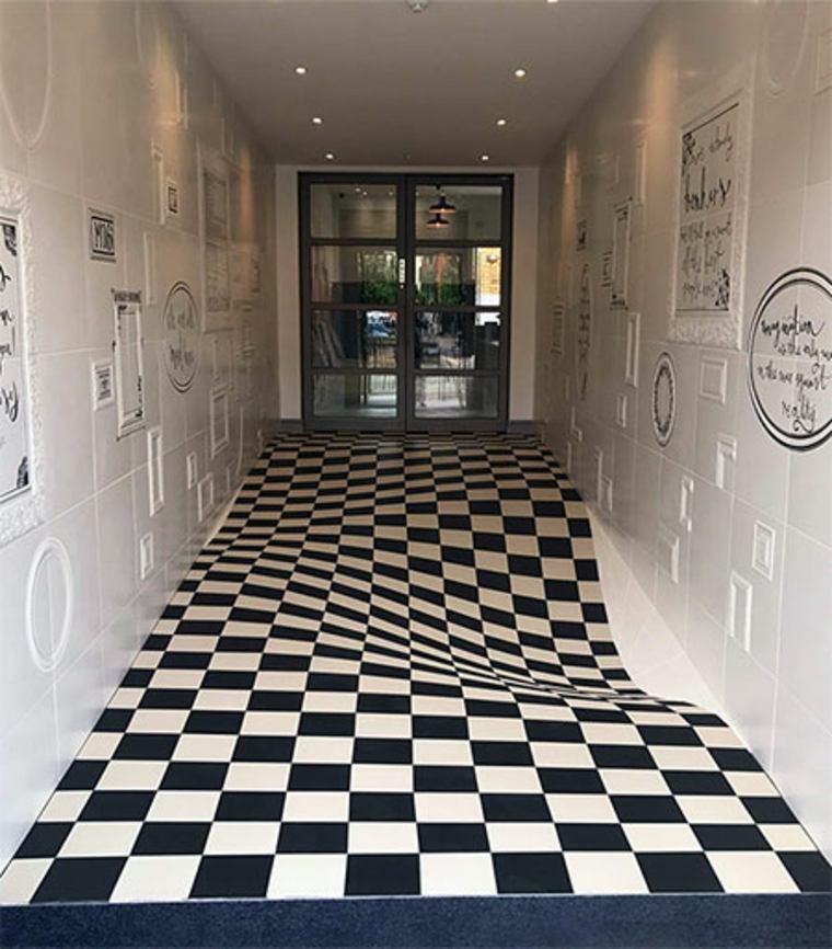 original suelo de azulejos de cerámica