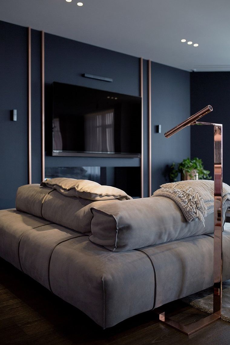 diseño de interior con elementos de cobre