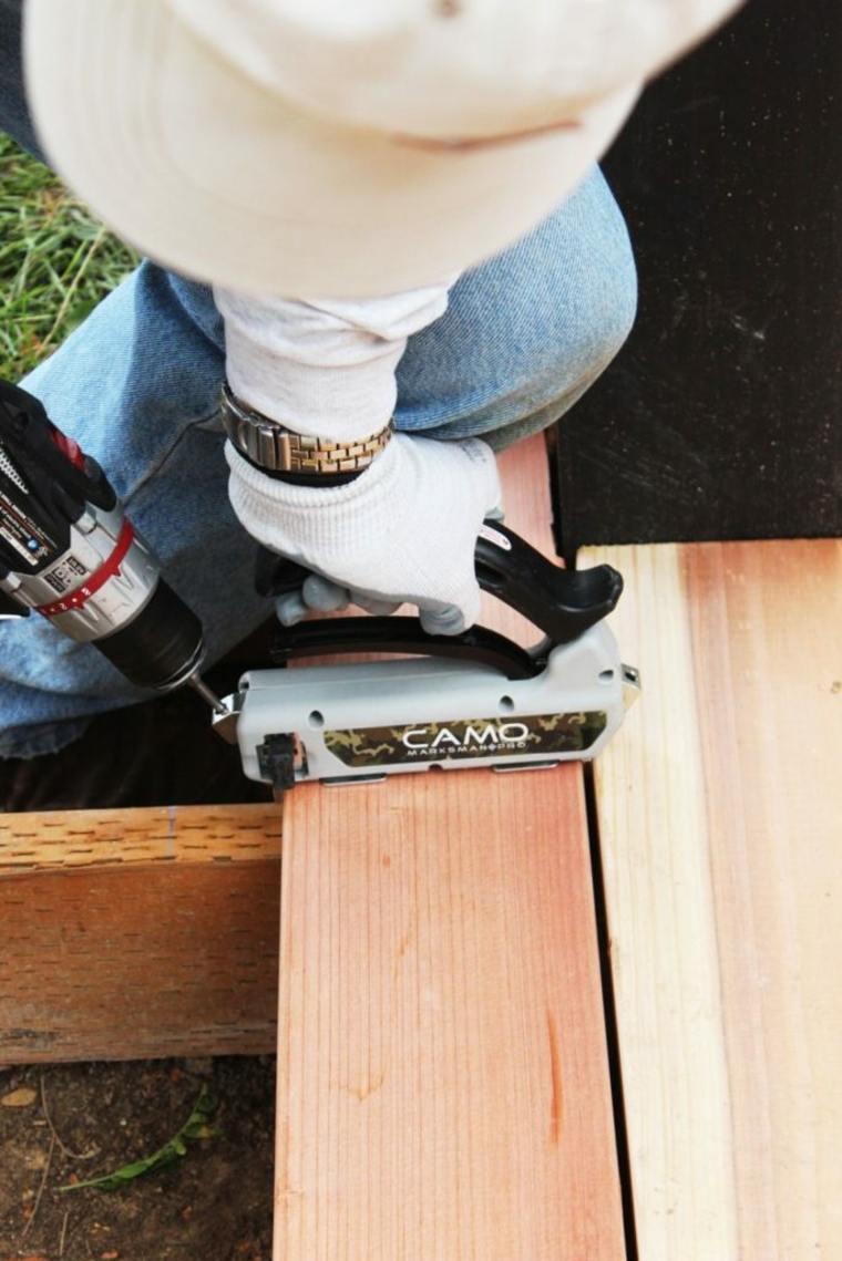 montar una plataforma de madera