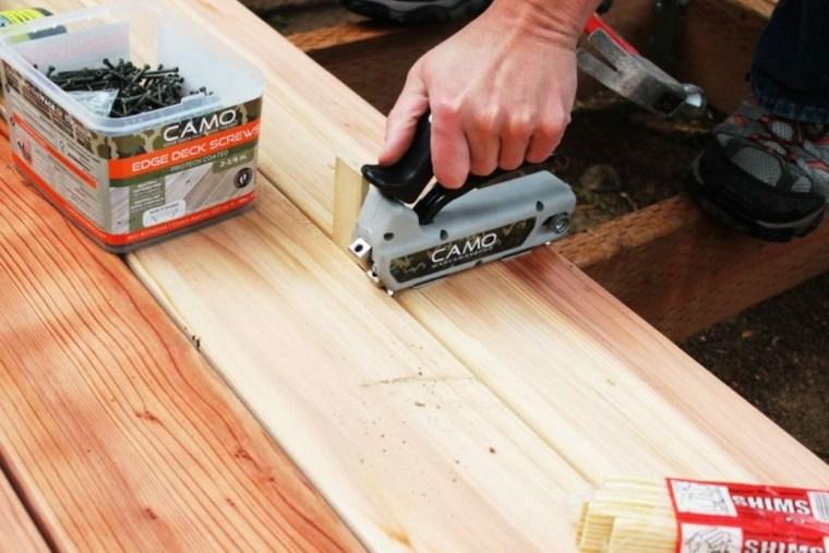 separar los listones de madera