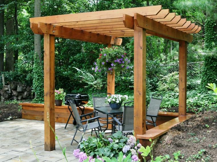 Instalar postes para una p rgola de jard n sencillos pasos - Pergolas baratas para jardin ...