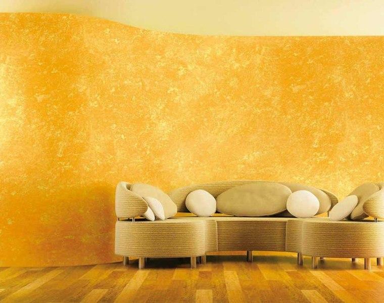 pinturas modernas-opciones-esponjado-color-amarillo