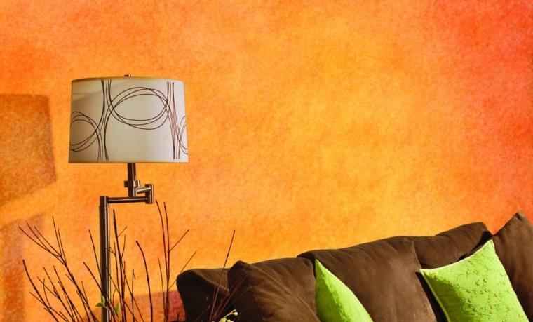pinturas modernas-opciones-esponjado-color-naranja