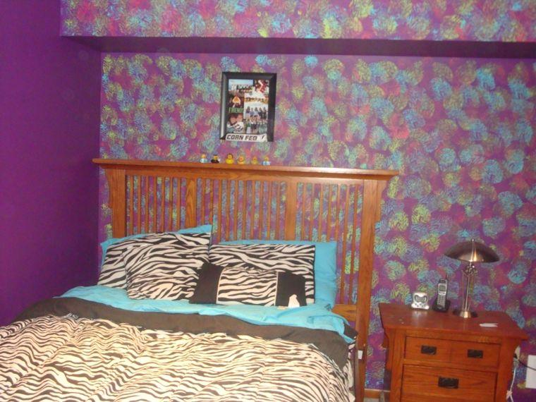 pinturas modernas-opciones-esponjado-dormitorio-pared