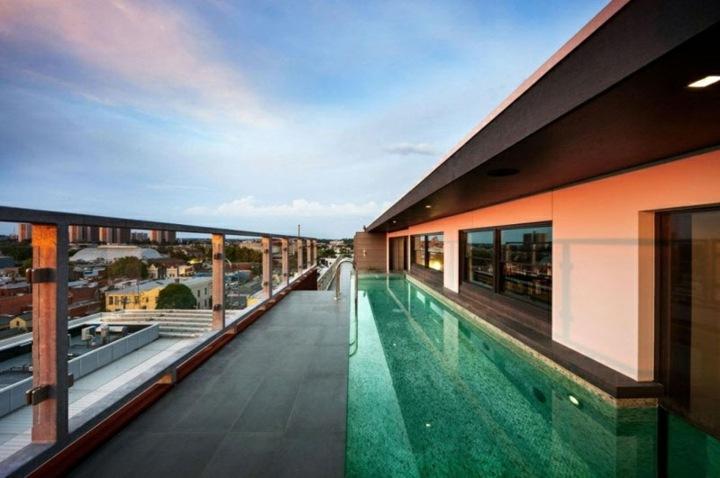 piscinas de obra salas modernas