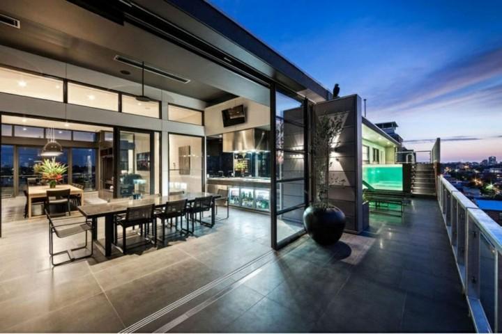 piscinas de obra terraza moderna