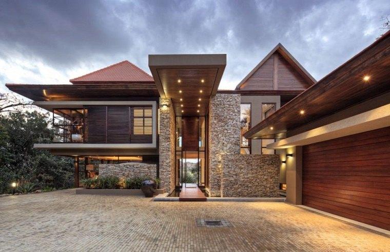 fachadas de piedra de estilo