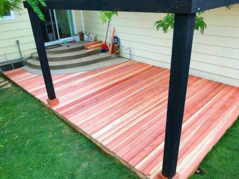 estupenda plataforma de madera