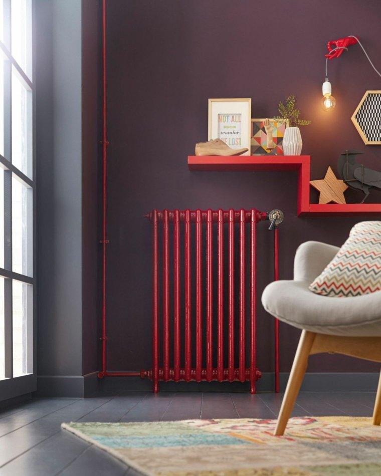 radiador-rojo-con-estanteria
