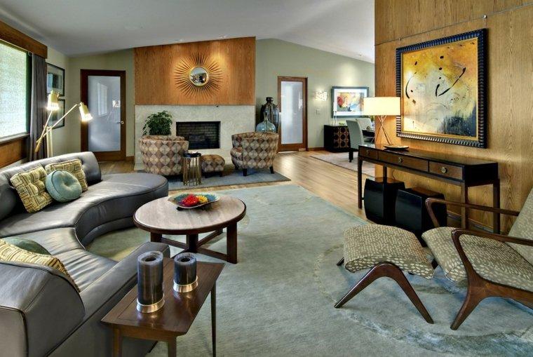 impresionantes diseños de interiores con chimenea