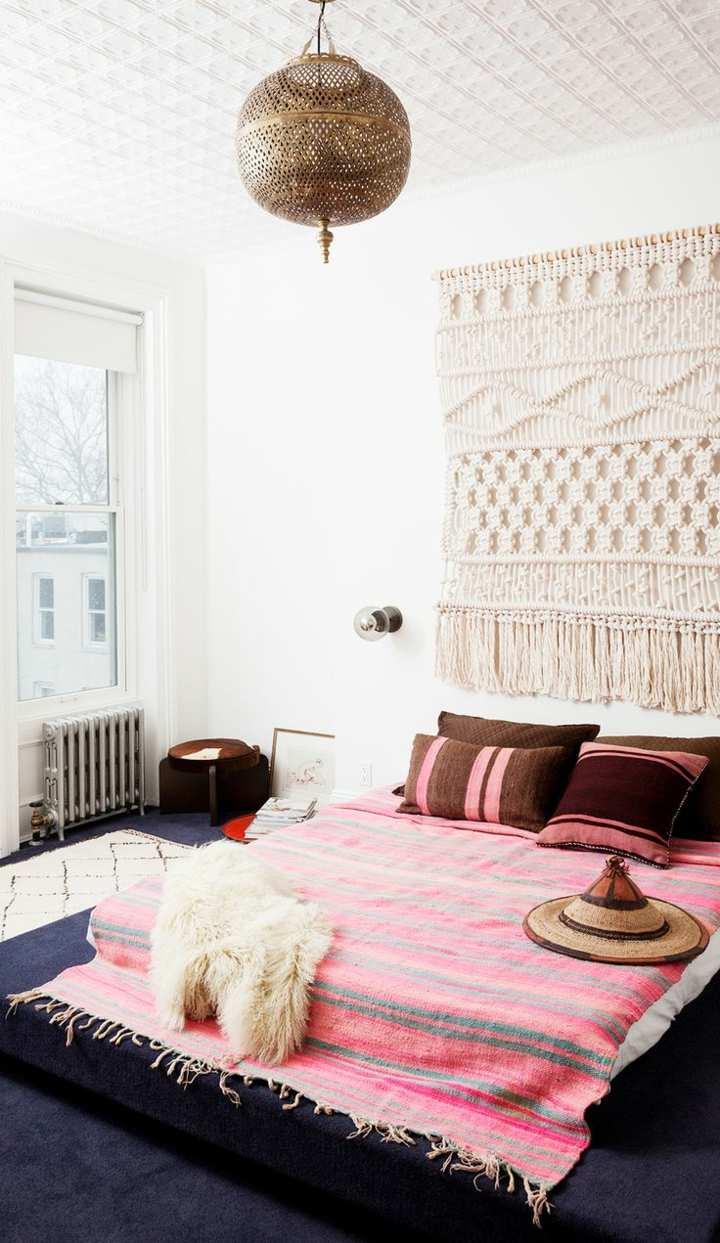 Dise o bohemio para dormitorios acogedores y especiales for Tejidos y novedades paredes