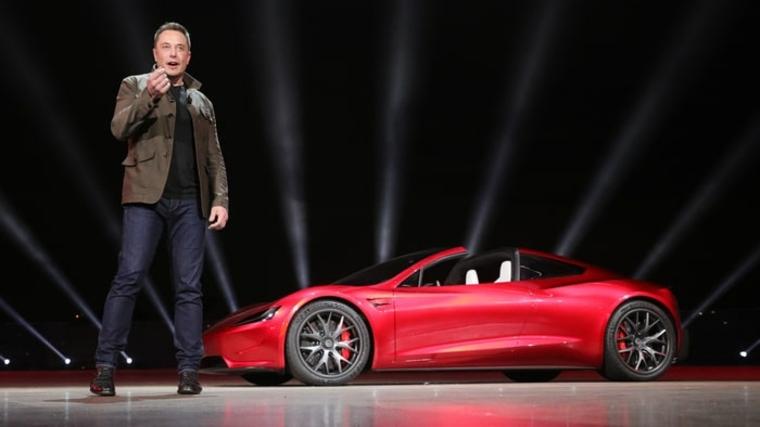 presentacion del Tesla Roadster